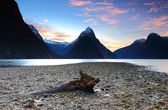 Breathtaking scenery view at Milford Sound, South Island, New Zealand — Stock Photo