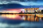 Dramatic sunset view at Masjid Tuanku Mizan Zainal Abidin, Putrajaya, Malaysia — Stock Photo