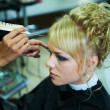 Bride for wedding in barbershop — Stock Photo #19364737