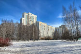 Winter-Stadtansicht — Stockfoto