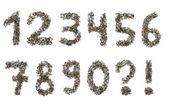 Paznokci i śruby numery — Zdjęcie stockowe