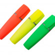 Three Highlighter Pens - Stock Photo