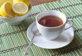 кубок черного чая — Стоковое фото