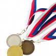 Gold, Silver and Bronze Medals — Stock Photo #24380481