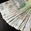 Tack of 100's polish zloty — Stock Photo