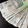 Stock Photo: Tack of 100's polish zloty