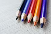 Färgpennor för skolan — Stockfoto