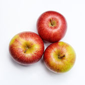 Fresh apples on a light background — Stock Photo