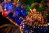 Ornaments on a Christmas tree — Zdjęcie stockowe