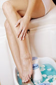 Beauty legs wellness salon — Стоковое фото