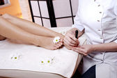 Beauty legs wellness salon — Stock Photo