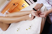 Beauty legs wellness salon — Stok fotoğraf