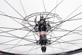 Bike wheel on the rim ZTR Alpine — Stock Photo