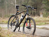 Bicycle sport in forest — Stock Photo