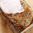 Stock Photo: Fresh wholemeal bread with smoked loin of pork
