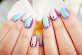 Decorated nails — Stock Photo