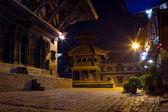 Beautiful Night Scene in old town — Stock Photo