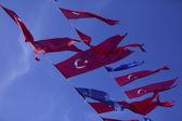 Flags of Turkey — Stock Photo