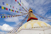 Boudhanath giant buddhist stupa in Kathmandu Himalaya Nepal — Stock Photo