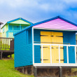 Colorful beach huts — Stock Photo #18374145
