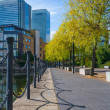 Docklands canary wharf london uk — Stock Photo
