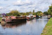 Canal scene uk — Stock Photo