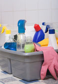 Bathroom cleaning services — Stock Photo