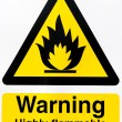 Stock Photo: Highly flammable gases