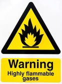 Highly flammable gases — Stock Photo