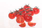 Tomatoes on white — Foto de Stock