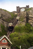 Hastings sussex east cliff railway — Stock Photo
