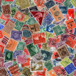 Vintage postage stamps — Stock Photo