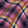 Plaid fabric with curves — Stock Photo #26241337
