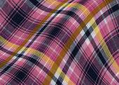 格子织物的曲线 — 图库照片