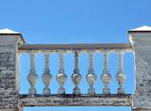 Decorative stone fence — Stock Photo