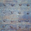 Rusty old iron gate background — Stock Photo