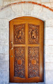 Artistic wooden door — Stockfoto