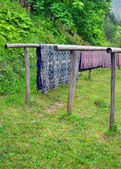 μάλλινες κουβέρτες — Foto de Stock
