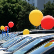 Balloons at Cars Sale — Stock Photo
