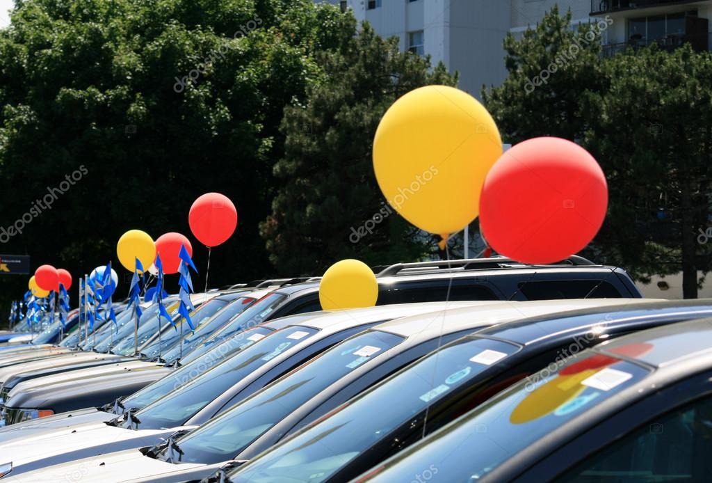Enterprise Cars For Sale >> Balloons at Cars Sale — Stock Photo #18903671