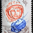 Post Stamp with Gagarin portrait — Stock Photo