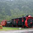 Stock Photo: Retro Locomotive Skagway in Alaska