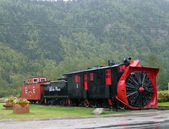 Retro Locomotive Skagway in Alaska — Stock Photo