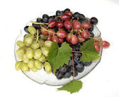 Grapes on the Glass Dish — Stock Photo