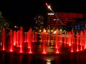 Colorful Fountains — Stock Photo