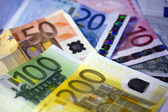 Euro Notes on other Euro Notes in the background — Stockfoto
