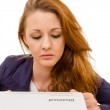 Young woman looking sad was fired from her job — Stock Photo