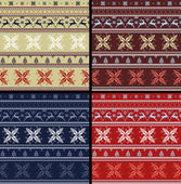 Nordic Folk Knitted Ornamental Romantic Pattern — Stock Photo
