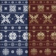 Nordic Traditional Snowflacke Pattern — Foto Stock #18682443