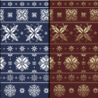Nordic Traditional Snowflacke Pattern — Stockfoto #18682443